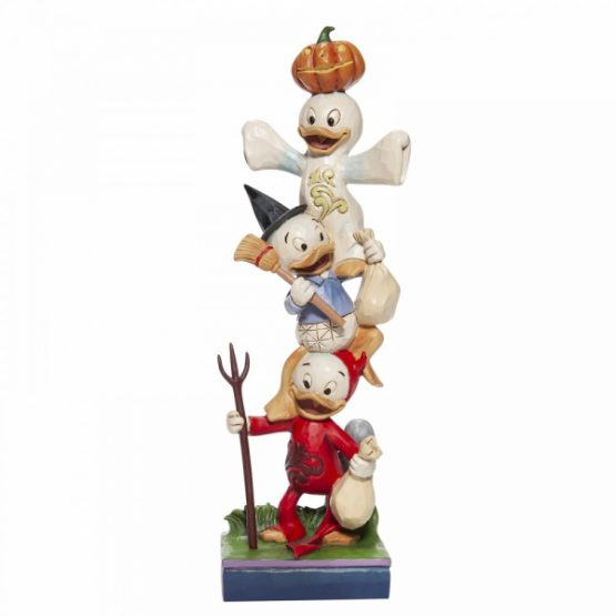 Halloween Stacked Huey, Dewey and Louie Figurine