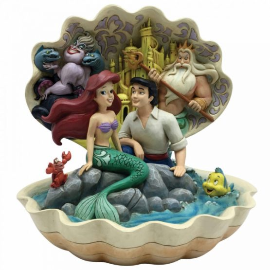 Seashell Scenario (The Little Mermaid Shell Scene Figurine)