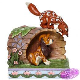 Fox and Hound on Log