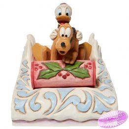 Donald and Pluto Sledding