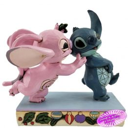Angel Kissing Stitch Under Mistletoe