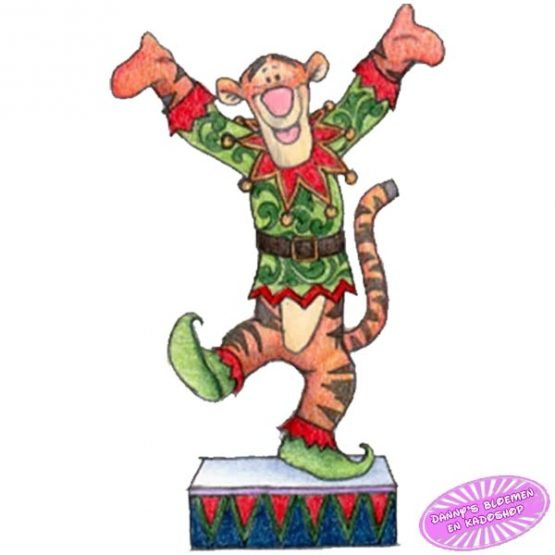 Tigger Dressed as a Christmas Elf
