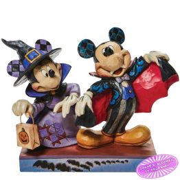 Mickey as a Vampire and Minnie as a Witch