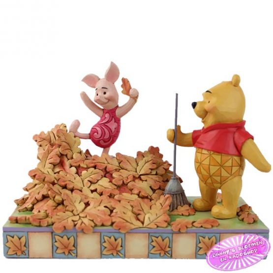 Piglet Playing in a Pile of Leaves that Pooh Just Raked