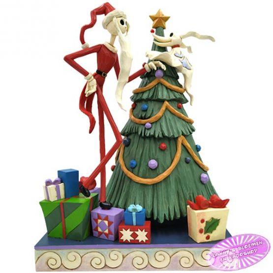 Santa Jack with Zero by Tree